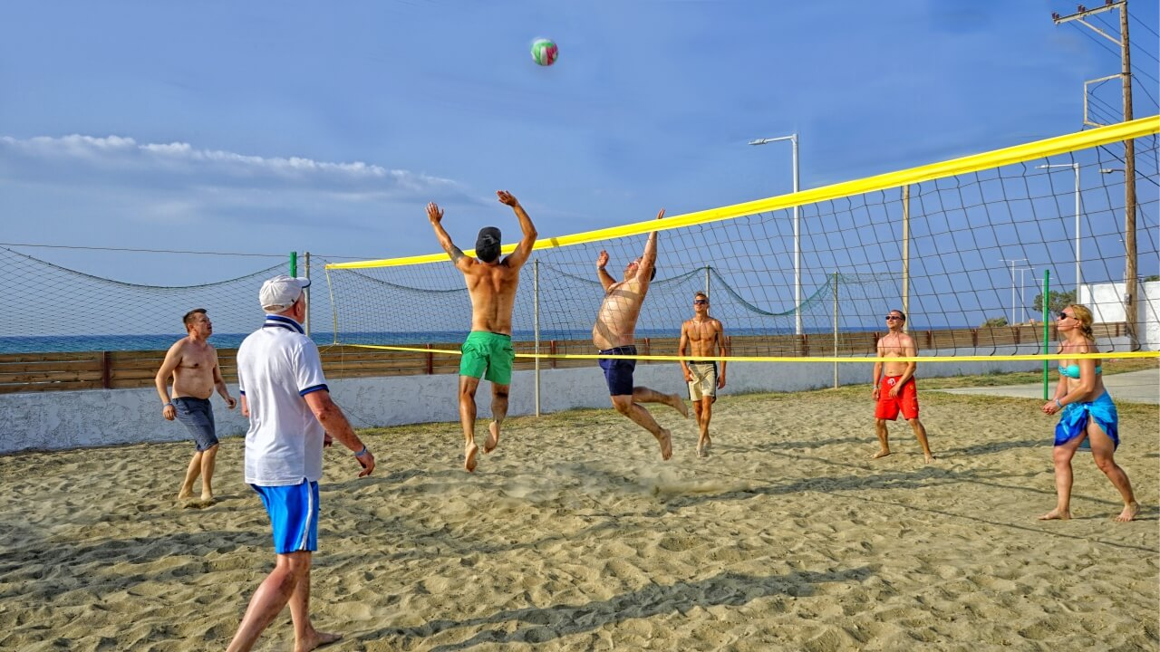 we know how to play beach volley